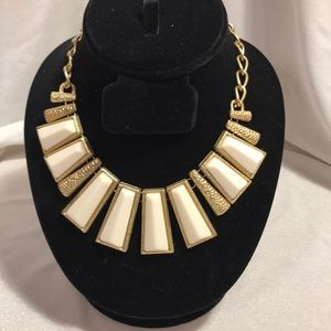 Polished Gold and ivory statement necklace